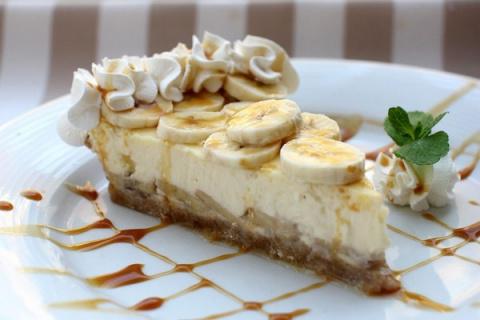 Легкий бананово-творожный десерт