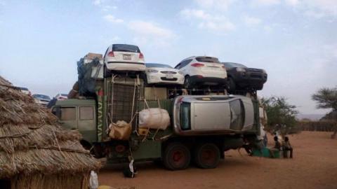 Технология перевозки легковых автомобилей в Судане