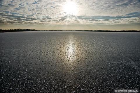 Красота замёрзших озёр в фото
