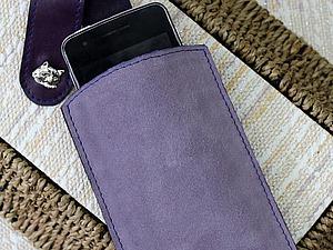 Изготовление чехла для мобильного телефона из натуральной кожи и спилка