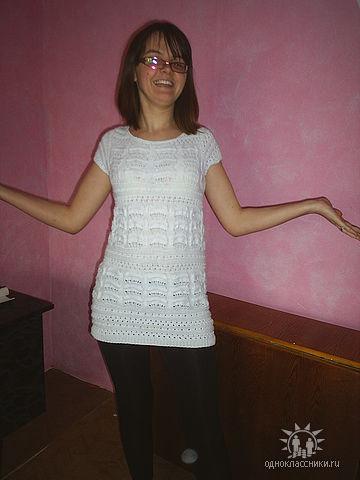 Белое платье (спицы)
