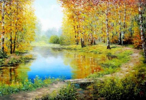 Осенние пейзажи Евгения Синева