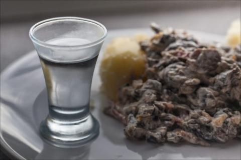 Скоблянка с говядиной и грибами