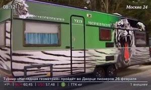 Москвич соорудил себе дом на колесах