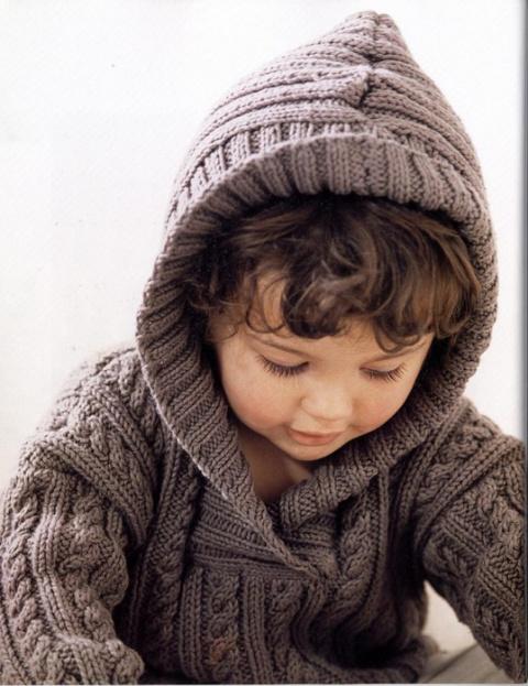 Пуловер с капюшоном для мальчика