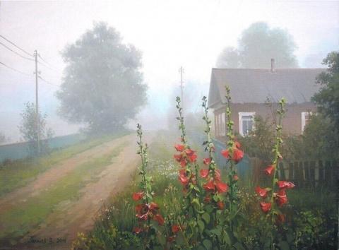 Потрясающие теплые деревенские пейзажи художника Вячеслава Палачева.