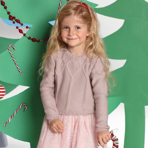 Вяжем для девочек - джемпер, сарафан и платье. Косая бейка в роли обтачки - секреты от швеи