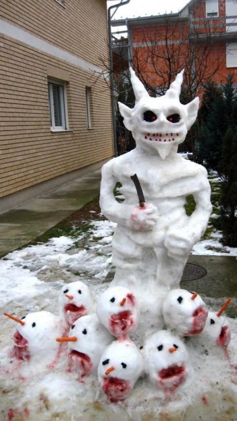 Долой скучных снеговиков! 15 способов впасть в детство и развеселить соседей