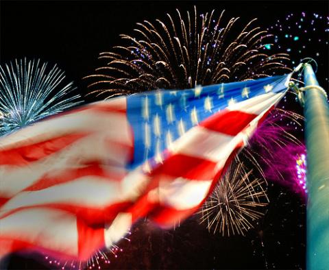 Фейерверк на День Независимости 4 июля