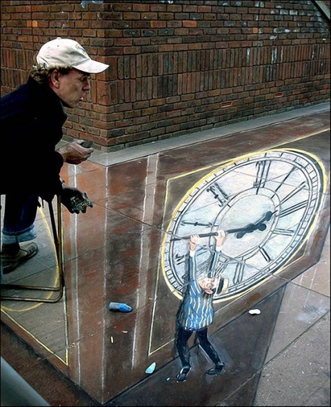 3D графика: рисунки на асфальте