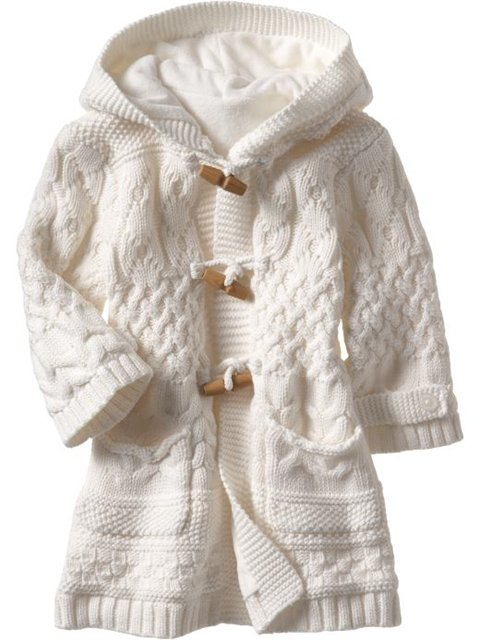 Вязаное детское пальто | Модели