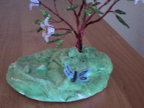 """Мои бисерные деревья. Помогли """"Умелые ручки"""""""
