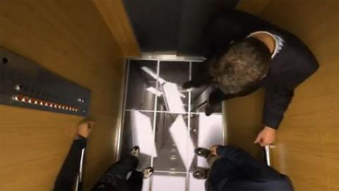 Экстремальный лифт LG: не для слабонервных!