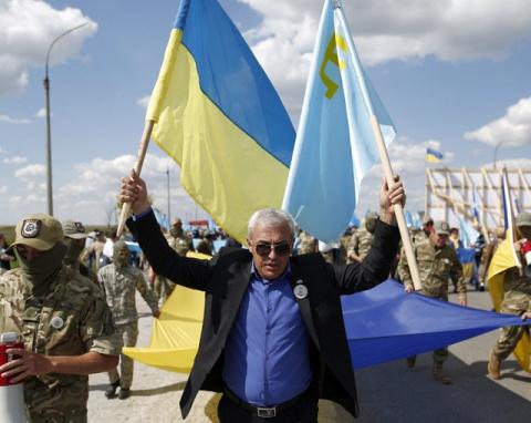Шоу на границе с Крымом: «На…