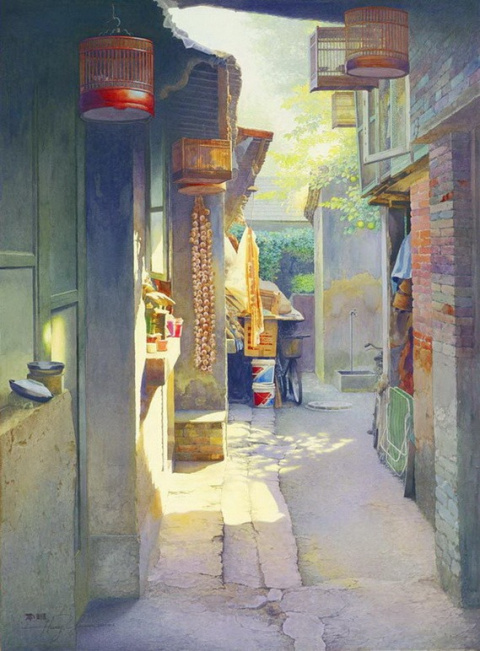 Чудесные акварели Huang Youwei
