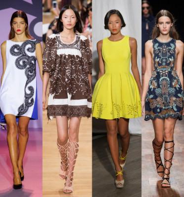 Модные женские платья весна 2017