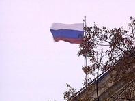 В Луганске на административных зданиях появились российские флаги