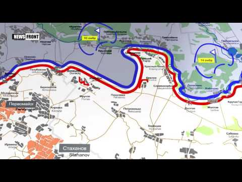 ЛНР: карта обстрелов со стороны ВСУ. 27 мая 2017
