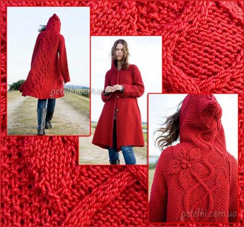 Потрясающее пальто с объемными цветами