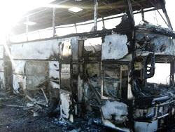 В Казахстане загорелся автоб…