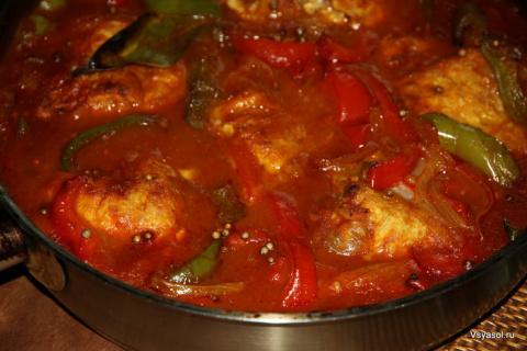 Рыба под Маринадом из Болгарского перца