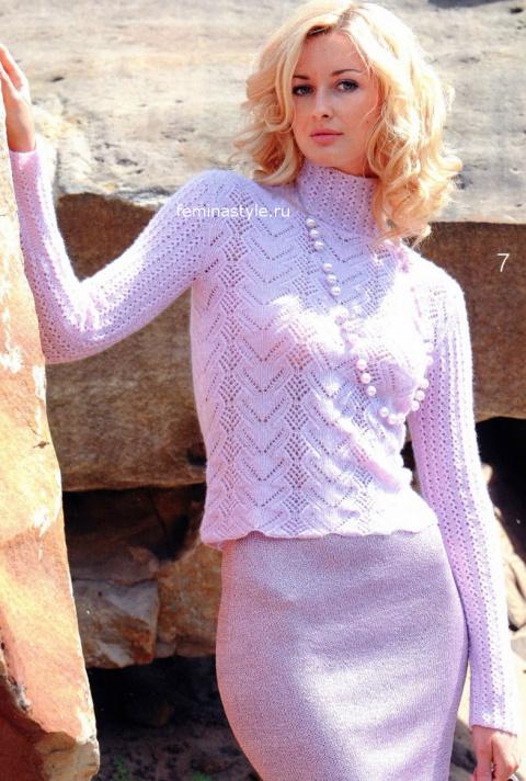 Элегантный пуловер от Лены Ланне