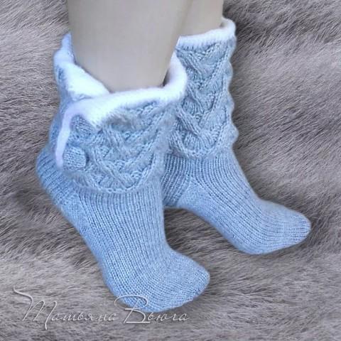 Оригинальные вязаные носочки…