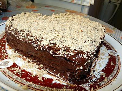Ленивый бисквитный торт со сметаной