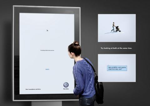 Volkswagen доказал опасность СМС за рулем