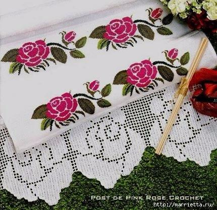 Вышиваем розы крестом - схемы