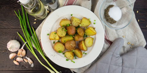 Хрустящий картофель, запечён…