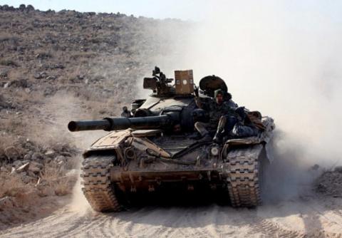Осада Абу-Кемаля: бойцы САА …
