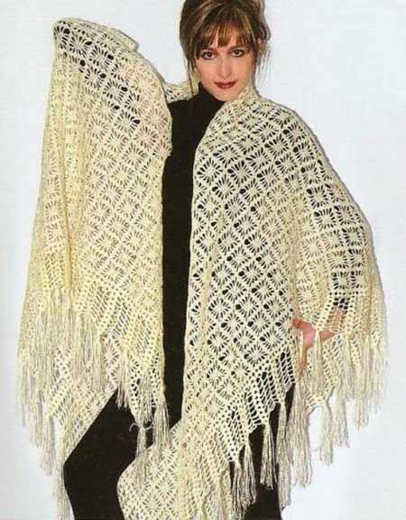 роскошная шаль в паучках