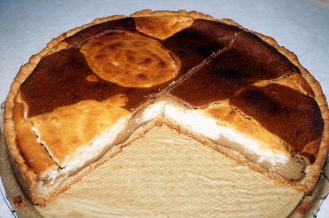 Творожный пирог с кофе и лимоном
