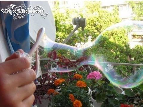 «Крепкие» мыльные пузыри сво…