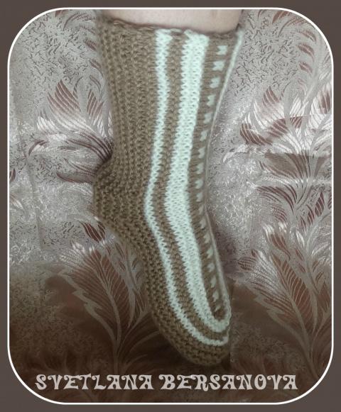 Интересное вязание - вяжем носки-исландцы.