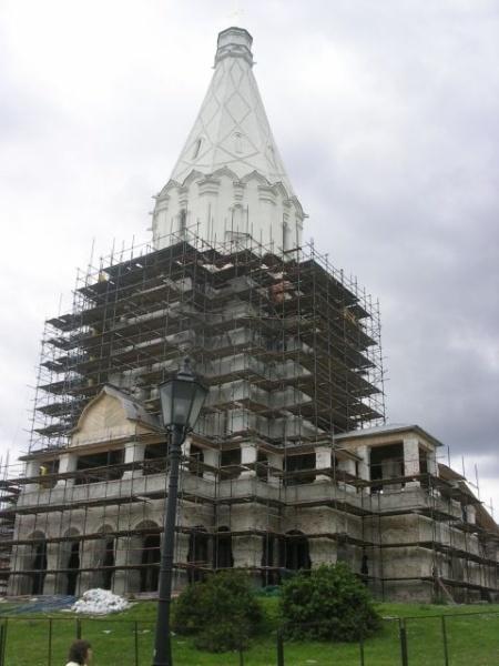 Прогулки по Коломенскому. Храм Вознесения.