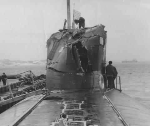 Столкновение атомной подводн…