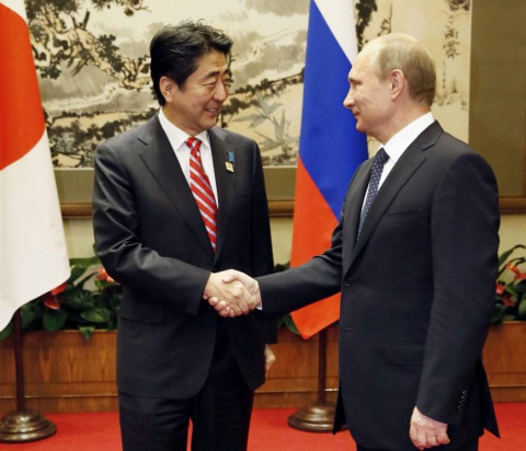 Абэ и Путин проведут саммит в 2015 году