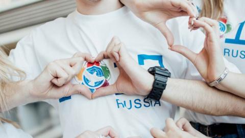 В параде студентов в Москве …