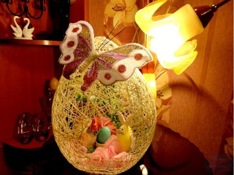 Ажурное яйцо и корзинка для …