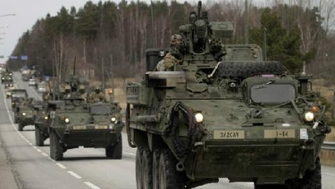 Научениях НАТО вЭстонии пр…