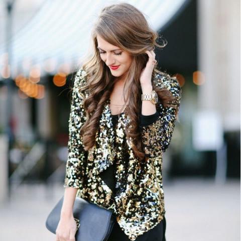 Одежда с пайетками: модные образы