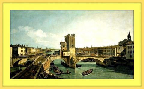 Древний мост Понте делле Нави в Вероне.Ок.1747-1748гг.