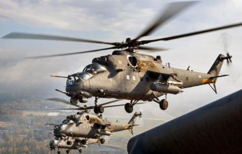 Боевые вертолёты Ми-35М отпр…