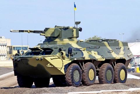 Над украинскими БТРами смеют…