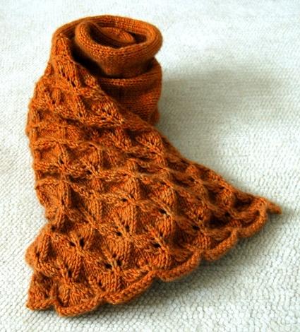 Прелестный шарф с кружевными…
