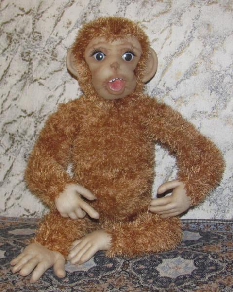 Каркасная интерьерная игрушка обезьянка