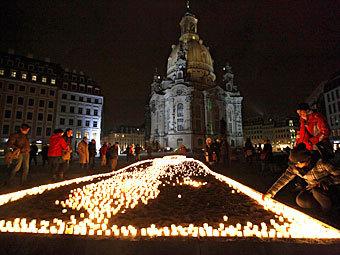 13 тысяч жителей Дрездена помешали акции неонацистов.