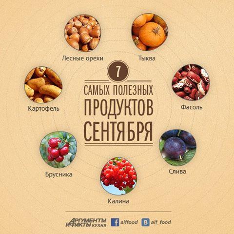 7 самых полезных продуктов сентября